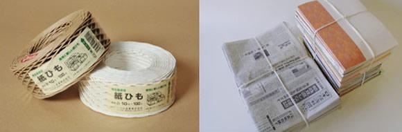 古紙結束用の紙ひも